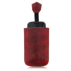 Красный модный чехол для телефона из кожи змеи от Quarro, арт. AN-189
