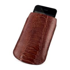Чехол для iPhone из кожи страуса, отличающейся высокой прочностью от Quarro, арт. AO-009