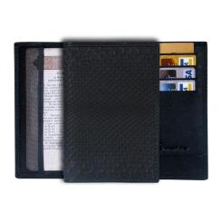 Черная обложка для паспорта из натуральной кожи питона от Quarro, арт. AP-035