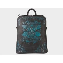 Дизайнерский женский рюкзак из натуральной кожи с тисненным рисунком от Alexander TS, арт. «Харди» Неон