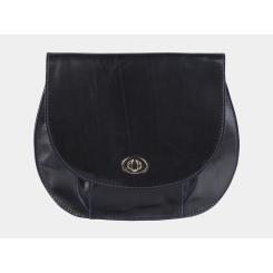 Женственная сумка-клатч, синего цвета из гладкой натуральной кожи от Alexander TS, арт. KB008 Blue