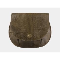 Изящная женская сумка-клатч оливкового цвета, из натуральной кожи от Alexander TS, арт. KB008 Olive Piton