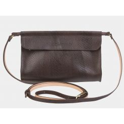 Женская сумка-клатч из натуральной коричневой кожи, с тиснением от Alexander TS, арт. KB009 Brown Piton