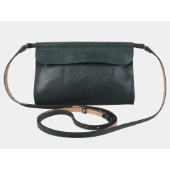 Изящная женская сумка изумрудного цвета, из кожи с тиснением от Alexander TS, арт. KB009 Emerald piton