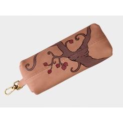 Стильная дизайнерская кожаная ключница с эффектным рисунком от Alexander TS, арт. «Ветвь»