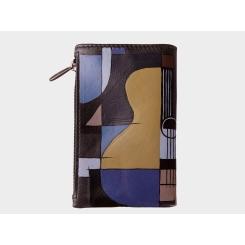Стильная и практичная дизайнерская ключница из натуральной кожи от Alexander TS, арт. Ключница «Геометрия»