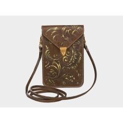 Дизайнерская женская сумка из натуральной кожи с авторским узором от Alexander TS, арт. Литтл «Рог Изобилия»