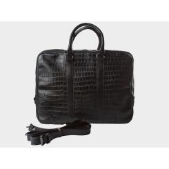 Большая мужская деловая сумка из натуральной кожи с тиснением под рептилию от Alexander TS, арт. PF0013