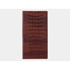 Мужское портмоне из тисненной натуральной кожи коньячного оттенка от Alexander TS, арт. PR007 Cognac Kayman