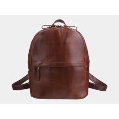 Женский городской рюкзак из натуральной кожи коньячного цвета от Alexander TS, арт. R0033 Cognac