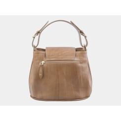 Бежевая женская сумка из натуральной кожи, модель с элегантной ручкой от Alexander TS, арт. W0017 Beige