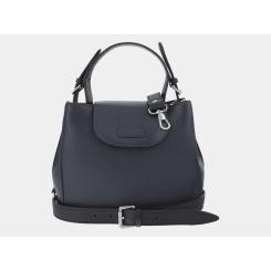Женска сумка из натуральной кожи, выполненная в строгом деловом стиле от Alexander TS, арт. W0017 Blue Black