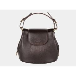 Темно-коричневая стильная сумка с регулируемой ручкой от Alexander TS, арт. W0017 Brown-2
