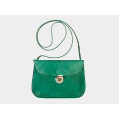 Зеленый женский кожаный клатч с одним отделом и внешним кармашком от Alexander TS, арт. W0017 Green