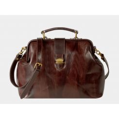 Стильная и вместительная женская кожаная сумка коричневого цвета от Alexander TS, арт. W0023 Brown