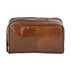 Мужской кожаный несессер с двумя обособленными отделениями от Ashwood Leather, арт. 2012 Chestnut Brown