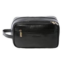 Практичный мужской несессер с боковой ручкой для удобного использования от Ashwood Leather, арт. 2080 Black