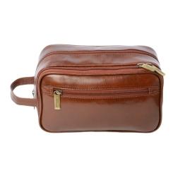 Эффектный мужской несессер с отделом и откидным кармашком от Ashwood Leather, арт. 2080 Chestnut Brown