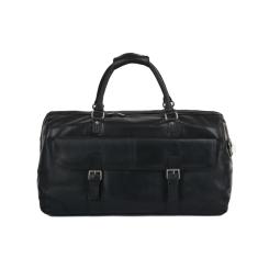 Большая мужская дорожная сумка из натуральной кожи черного цвета от Ashwood Leather, арт. Francis Black