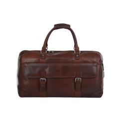 Стильная дорожная сумка из натуральной кожи, для ручной клади от Ashwood Leather, арт. AL Francis Tan