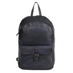 Стильный мужской повседневный рюкзак из натуральной кожи синего цвета от Ashwood Leather, арт. 1331 Navy