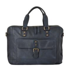 Стильная мужская деловая сумка из натуральной кожи для документов от Ashwood Leather, арт. 1334 Navy