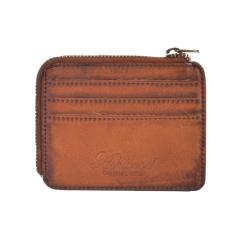 Компактное мужское портмоне из натуральной кожи светло-коричневого цвета от Ashwood Leather, арт. 1364 Tan