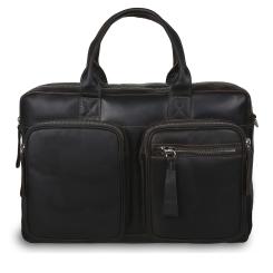 Большая мужская деловая сумка из натуральной кожи темно-коричневого цвета от Ashwood Leather, арт. 1662 Brown