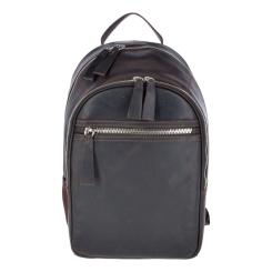 Практичный городской мужской рюкзак из темно-коричневой натуральной кожи от Ashwood Leather, арт. 1663 Brown