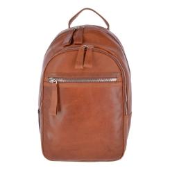 Элегантный городской мужской рюкзак из натуральной кожи орехового цвета от Ashwood Leather, арт. 1663 Chestnut