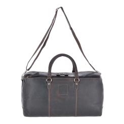 Удобная мужская дорожная сумка из темно коричневой натуральной кожи от Ashwood Leather, арт. 1666 Brown