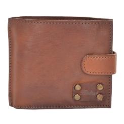 Стильное мужское портмоне из натуральной кожи светло-коричневого цвета от Ashwood Leather, арт. 1775 Rust