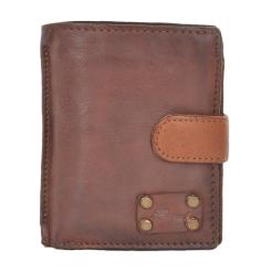 Элегантное мужское портмоне из натуральной кожи светло-коричневого цвета от Ashwood Leather, арт. 1776 Rust