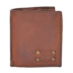 Практичное мужское портмоне из натуральной кожи светло-коричневого цвета от Ashwood Leather, арт. 1779 Rust