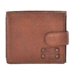 Удобное мужское портмоне из натуральной кожи светло-коричневого цвета от Ashwood Leather, арт. 1780 Rust