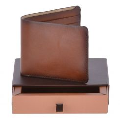 Раскладное портмоне светло-коричневого цвета из натуральной кожи от Ashwood Leather, арт. 1993 Tan