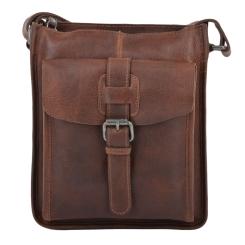 Стильная мужская сумка через плечо из натуральной кожи светло-коричневого цвета от Ashwood Leather, арт. 4551 Tan