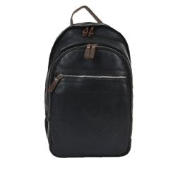 Классический мужской городской рюкзак из натуральной кожи черного цвета от Ashwood Leather, арт. 4555 Black