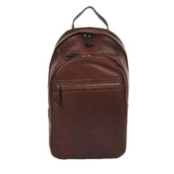 Вместительный городской мужской рюкзак из коричневой натуральной кожи от Ashwood Leather, арт. 4555 Tan