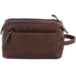 Мужской несессер из натуральной кожи светло-коричневого цвета от Ashwood Leather, арт. 4557 Tan