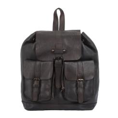 Практичный мужской рюкзак из натуральной кожи темно-коричневого цвета от Ashwood Leather, арт. 7990 Brown