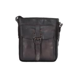 Стильная мужская кожаная сумка планшетной формы, темно-коричневого цвета от Ashwood Leather, арт. 7993 Brown