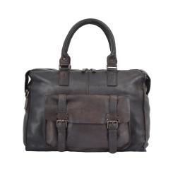 Мужская дорожная сумка из натуральной кожи, модель с длинными ручками от Ashwood Leather, арт. 7997 Brown