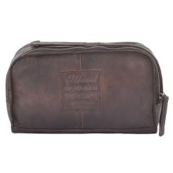 Стильный мужской несессер из натуральной кожи коричневого цвета от Ashwood Leather, арт. 7998 Brown
