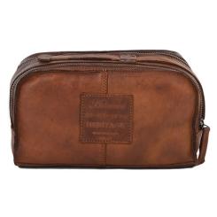 Практичный мужской несессер из натуральной кожи светло-коричневого цвета от Ashwood Leather, арт. 7998 Rust