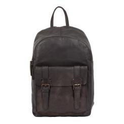 Удобный мужской повседневный рюкзак из натуральной кожи темно-коричневого цвета от Ashwood Leather, арт. 7999 Brown