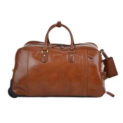 Объемная мужская дорожная сумка из натуральной кожи орехового цвета от Ashwood Leather, арт. Albert Chestnut Brown