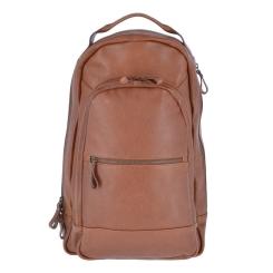 Стильный городской мужской рюкзак из натуральной кожи светло-коричневого цвета от Ashwood Leather, арт. Arron Honey