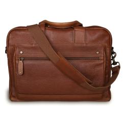 Повседневная мужская сумка через плечо из натуральной кожи коричневого цвета от Ashwood Leather, арт. Brady Honey