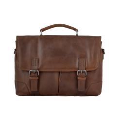 Стильный мужской портфель из натуральной кожи, модель для бумаг и документов от Ashwood Leather, арт. Elliot Tan